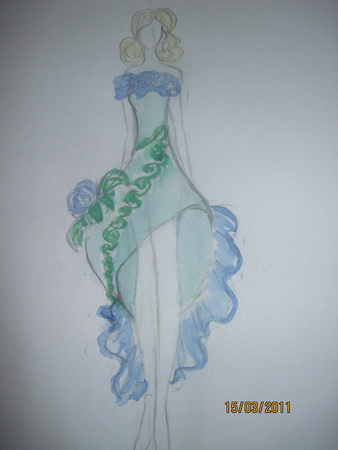 эскизы модных платьев: