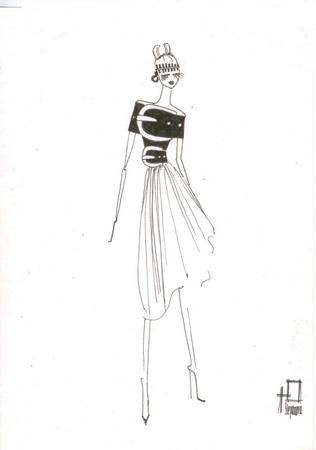 Эскизы платьев 2015