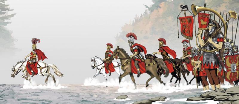 10 января 49 до н.э. - Юлий Цезарь переходит Рубикон | Серебряный Дождь